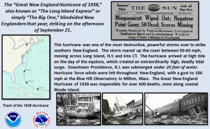 Historic Occurrences – 1938 Great New England and Long Island Express Hurricane killed 682+ people