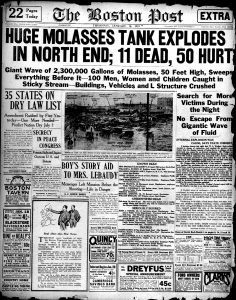 Historic Occurrences – The Great Molasses Flood Boston Disaster of 1919