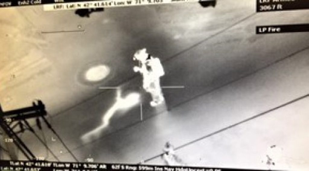 State Police Helicopter Crew, Using Infrared Camera, Located