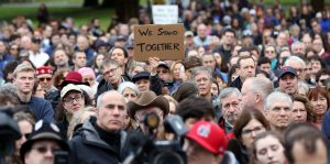 Vigil for Tree of Life Synagogue Victims Held on Boston Common. NATION – Presidential Proclamation Honoring the Victims of the Tragedy in Pittsburgh, Pennsylvania