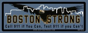 911 Runs in MA – Call if you can, text if you can't. Boston Strong !
