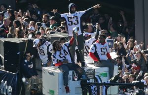 Fans Cheer on NE Patriots riding 617 Ducks