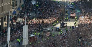 Thousands attend New England Patriots Football Victory Parade