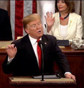 "NATION – ""The State of Our Union is Strong"" President Donald Trump"