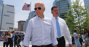 Mayor Martin Walsh and Vice President Joe Biden Touring Boston