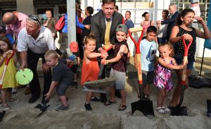 Groundbreaking of the Adams Street Library