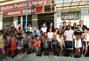 MAYOR WALSH, BOSTON PUBLIC LIBRARY CELEBRATE GROUNDBREAKING OF RENOVATED $18.3M ADAMS STREET BRANCH