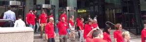 Boston Media Strong Red Shirts Walkout Clears Benches as Journalist Union Strikes One Message of Solidarity