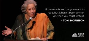 "Boston Public Library creates ""Remembering Toni Morrison."" booklist."