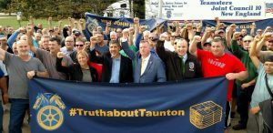 Boston Globe Teamsters Rally Strong Billionaire John Henry to Keep their Jobs