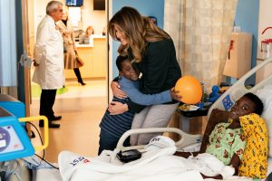 First Lady Melania Trump's Be Best Visits Boston Medical